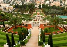 Bahai gardens. The Bahai gardens in the city of Haifa Royalty Free Stock Images