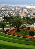 Bahai gardens. The Bahai gardens in the city of Haifa Royalty Free Stock Photos