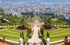 Bahai gardens Stock Images