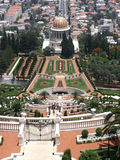 Bahai gardens. With roofs stock image