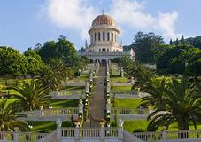 Bahai gardens. The Bahai gardens in Haifa north Israel Royalty Free Stock Image