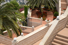 Bahai gardens. Architecture and decor in the Bahai Gardens Royalty Free Stock Photography