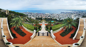 Bahai Gardens in Haifa Stock Images