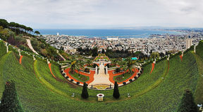 Bahai Gardens in Haifa royalty free stock photos