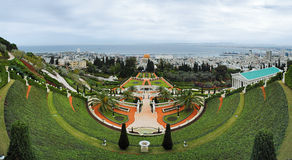 Bahai Gardens in Haifa Royalty Free Stock Photo