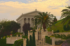 The Bahai gardens, Haifa Stock Images