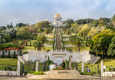 Bahai gardens, Haifa city, Israel Stock Images