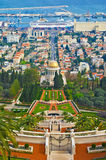 Bahai Gardens in Haifa, Israel Royalty Free Stock Photo