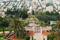 The Bahai Gardens in Haifa Israel Stock Photos