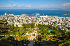 Bahai Gardens. Haifa, Israel Royalty Free Stock Photo