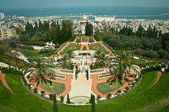 Bahai gardens, Haifa, Israel. Royalty Free Stock Image
