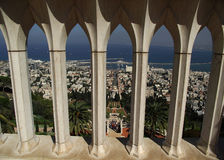 The Bahai gardens in Haifa Stock Images