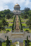 The Bahai gardens in Haifa, Israel stock photo