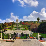 Bahai Gardens in Haifa Stock Photo