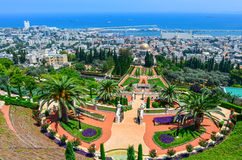 Bahai Gardens in Haifa Israel. Royalty Free Stock Images