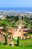 Bahai Gardens in Haifa Israel. stock photography