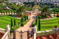 Bahai Gardens in Haifa Israel. stock images