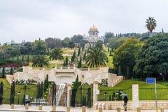 Bahai gardens in Haifa, Israel stock photography