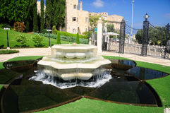 Bahai gardens in Haifa. Royalty Free Stock Photo