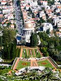 The Bahai gardens and Haifa royalty free stock image