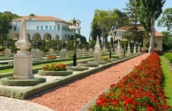 Bahai Gardens near Acre Stock Images