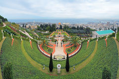 Bahai Gardens with Shrine of the Bab in Haifa, Israel royalty free stock photos