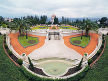 Bahai Gardens with Shrine of the Bab in Haifa, Israel royalty free stock images