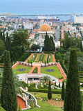 Bahai Gardens with Shrine of the Bab in Haifa, Israel Stock Images