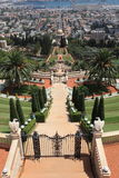 Bahai Gardens, Shrine of the Bab and Haifa Stock Image