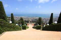 Bahai Gardens Staircase on Mount Carmel Stock Photography