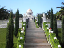 Bahai Gardens. Stairs leading to Bahai temple, Haifa Royalty Free Stock Images