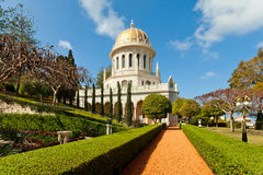 Bahai Gardens and temple Stock Photography