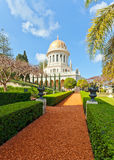 Bahai Gardens and temple Stock Images