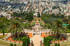 Bahai Gardens and temple Royalty Free Stock Image