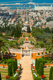 Bahai Gardens and temple Royalty Free Stock Photos