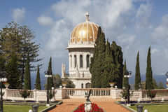 Bahai gardens and temple on the slopes of the Carmel Mountain, Haifa Royalty Free Stock Image