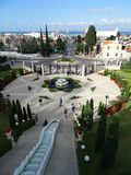 Bahai-Garten-Haifa Israel-Schrein und -treppe stockbilder