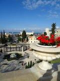 Bahai-Garten-Haifa Israel-Schrein und -treppe stockbild