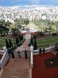 Bahai-Garten Israel Stockfotos