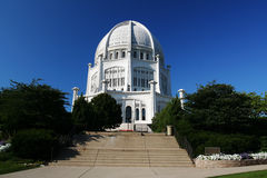 Bahai House of Worship, IL Royalty Free Stock Images