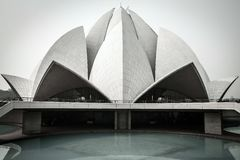 Bahai House of Worship, Lotus temple, India Stock Photos