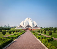 Bahai Lotus Temple - New Delhi, India stock images