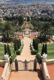Bahai ogródy, świątynia Baba i Haifa, Obraz Stock