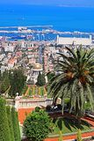 Bahai ogródy i pejzaż miejski Haifa, Izrael Fotografia Stock
