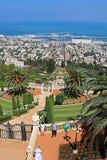Bahai ogródy i pejzaż miejski Haifa, Izrael Obrazy Royalty Free