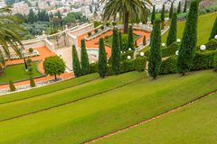 Bahai ogródy - taras Obrazy Royalty Free