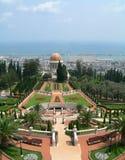 Bahai Srine et jardin, Israël Images libres de droits