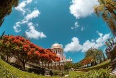 Bahai tempel i den Bahai trädgården, Carmel berg Royaltyfri Bild