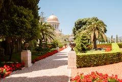 Bahai tempel i den Bahai trädgården, Carmel berg Royaltyfria Foton