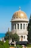 Bahai tempel i Haifa, Israel Arkivbild